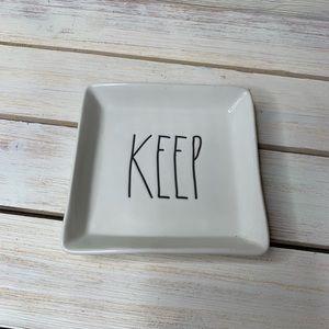 RAE DUNN   Keep Trinket Tray Bathroom Vanity Plate